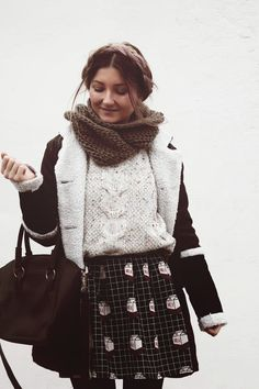 The Anita Kurkach Diaries: coat, skirt with print, winter outfit