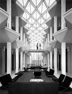 """Bill Hedrich """"McGregor Hall by Minoru Yamasaki"""" Wayne State University, Detroit, Michigan 1958"""