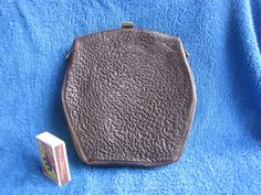 Antique Women Accessories Leather w bronze old Wallet bag Coin Purses #Handmade