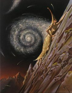 To the Top, by Vladimir Kush.
