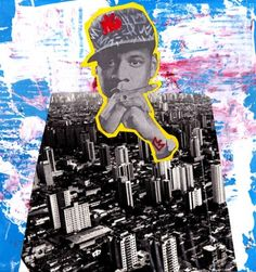 Inspired by pop art and the obsessions with celebrity, street artist greateclectic blends the most abstractly familiar elements of life. his mixed media Mixed Media Artwork, Mixed Media Collage, Collage Art, Collage Ideas, Art And Illustration, Art Illustrations, Mode Pop, Graffiti, Magazine Collage