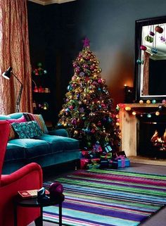 purple christmas decorating 30 Christmas Decorating Ideas To Get Your Home Ready For The Holidays