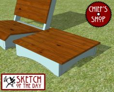 Sketch of the Day: Backyard Chair Side Table