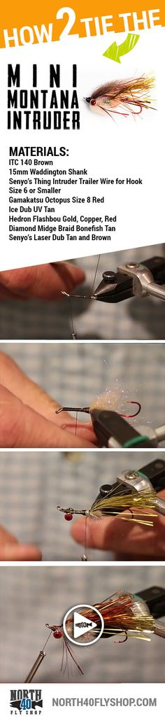 Tie a Mini Montana Intruder -- perfect for flinging on two to four weight trout spey rods.