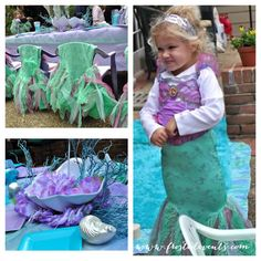 Pretty little mermaid party from Frosted Events!   @frostedevents  Kids party ideas and inspiration.  Girl theme parties, birthday party #kidsparty #mermaid