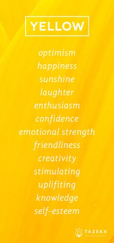 Yellow Color Psychology http://www.tazekaaromatherapy.com