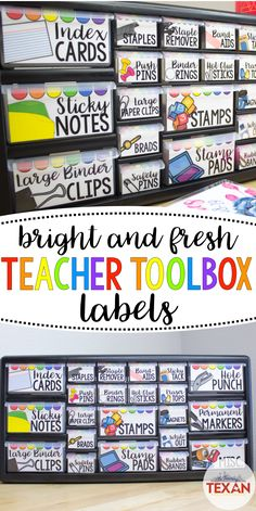 This DIY teacher toolbox is one of my favorite classroom organization tools!  Whether setting up for back to school or organizing mid-year I love this for keeping all of our small school supplies neat and tidy!