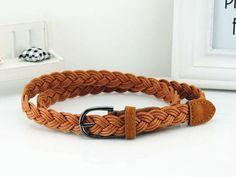 Hot Sell New Womens Belt New Style Candy Colors Hemp Rope Braid Belt Female Belt For Dress