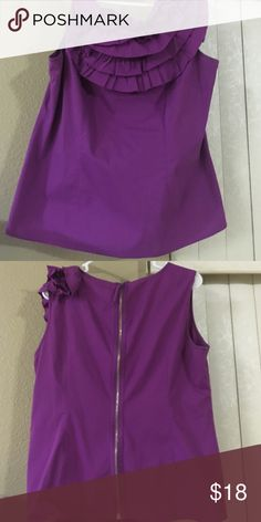 Gently used Ruffle Blouse Purple Sleeveless Blouse Tops Blouses