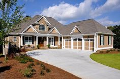 House Plan 50260   Craftsman Plan with 3807 Sq. Ft., 4 Bedrooms, 4 Bathrooms, 3 Car Garage