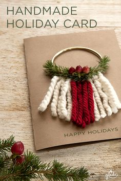 Spread joy to loved ones with unique homemade holiday cards. All you need is craft paper and a little joy to get started. Discover this and other joyful ideas to help spread the joy of the season.
