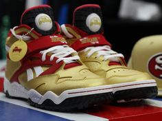 Reebok Pump Paydirt Mid 49ers Men's Shoes, Shoes Sneakers, Nfc West, Cheap Nike Air Max, Sneaker Heels, Shoe Game, Reebok, Trainers, Pumps