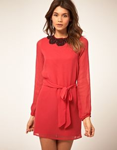ASOS Shift Dress with Embellished Trim  NOW $37.28