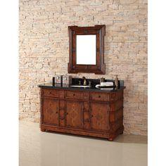 """October SALE - James Martin Solid Wood 60"""" Charleston Single Bathroom Vanity 400-V60S-BNA"""