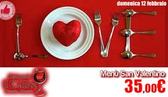 Menù San Valentino 'Il Calice' http://affariok.blogspot.it/