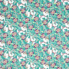green elephant corduroy fabric Robert Kaufman Cool Cords 2