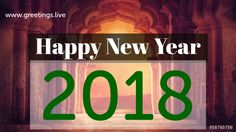 creative Greetings on new Year 2018 concept