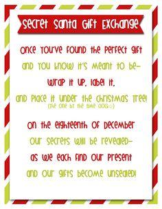 ... Secret Santa Game on Pinterest | Santa Games, Secret Santa and Secret