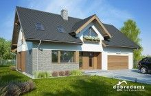 Telimena II 1G - Dobre Domy Flak & Abramowicz Home Fashion, Shed, Outdoor Structures, Exterior, House Design, Mansions, House Styles, Outdoor Decor, Home Decor