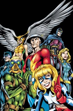 This is the cover for JSA #20, drawn by Alan Davis. Another classic group shot, but this time we have superheroes in contrast to cover for JSA #16.