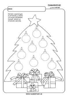 Vianoce - grafomotorika pre deti Christmas Activities For Kids, Toddler Activities, Christmas Crafts, Kindergarten, String Art, All Things Christmas, Diy And Crafts, Preschool, Kids Rugs