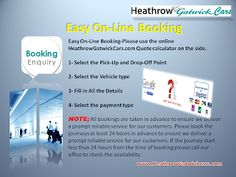 Easy online Booking Heathrow Gatwick Transfer London airport taxi services http://www.HeathrowGatwickCars.com