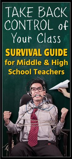 Gr.6-12. Avoid classroom management nightmares with this Complete Classroom Management Survival Guide.  Prepare ahead for difficult situations and stay clear of many classroom management mistakes.  These concrete strategies are geared towards middle and high school teachers.