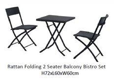 Rattan folding 2 seater bistro set - London ©Deepthi Martinet ©DM Design Studio