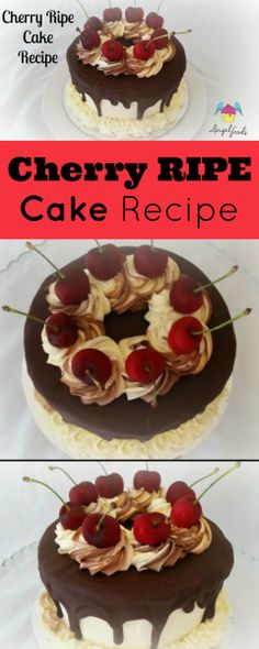 Cherry Ripe Cake Recipe: A chocolate mud cake with coconut and layers of cherry coconut filling and dark chocolate setting ganache. It will be your customers new fav!