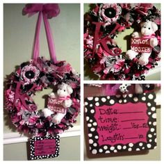 custom made baby wreath for hospital door.. take home hang in babys room.