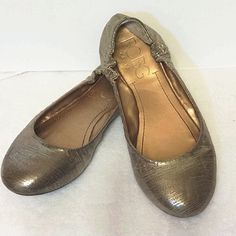 BCBGMax gold flats Gently used. Excellent condition! BCBGMaxAzria Shoes Flats & Loafers