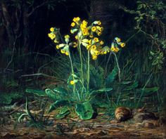 'Primroses' Pastel on paper by Jean-François Millet ). I think that these are probably Primula veris (Cowslips). Image and text courtesy MFA Boston. Millet Paintings, French Paintings, Flower Paintings, Claude Monet, Georges Braque, Jean Francois Millet, Barbizon School, Kunsthistorisches Museum, Henri Fantin Latour