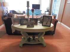 Firm believer color affects your emotions! I love the painted table - lightens up my den and it holds special memories of my dad!