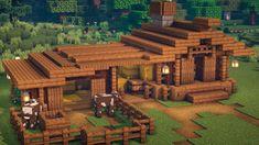 Minecraft Starter House, Minecraft House Plans, Minecraft Farm, Minecraft Cottage, Easy Minecraft Houses, Minecraft Castle, Minecraft Medieval, Minecraft House Designs, Minecraft Construction
