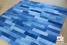 Denim quilt...great for picnic or to cover car seats.  Save those old jeans.