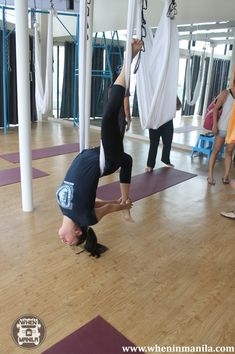 Anti-Gravity Yoga in Beyond Yoga: Flying Up in the Air Like Peter Pan - When In Manila Anti Gravity Yoga, Defying Gravity, Aerial Hammock, Aerial Yoga, Healthy Style, Get Healthy, Peter Pan, Yoga Fitness, Sport