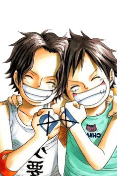 the d. brothers! Luffy D.Monkey and Ace D. Portgas.