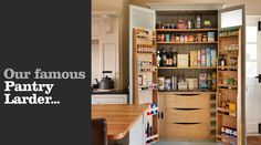 Fantastic great and amusing wooden kitchen pantry cabinet : Brown Wooden Desk Also With Wooden Pantry Kicthen Also With Chest Of Drawer Drinking And Food Stand Alone Kitchen Pantry, Kitchen Pantry Design, Kitchen Pantry Cabinets, Kitchen Redo, New Kitchen, Kitchen Storage, Kitchen Remodel, Pantry Storage, Kitchen Organization
