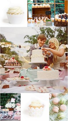 Pretty & Pastel: Wedding Dessert Table Ideas - pretty with different color plinths