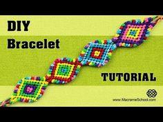 Macramé Indian Bracelet Tutorial ◀▶◀▶◀▶◀▶ - YouTube
