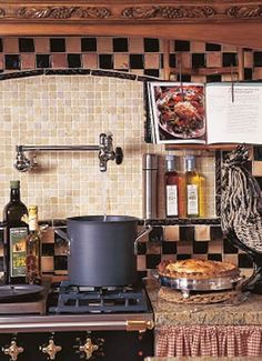 What more could you ask for? A warm kitchen with convenient faucet for big pasta meals with family and friends.