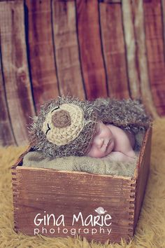 Newborn Baby Sleepy Hedgehog Hat & Cape Set Crochet Photo Prop on Etsy, $35.00