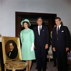 KN-C22590. President John F. Kennedy and First Lady Jacqueline Kennedy with President of Mexico, Adolfo López Mateos, at Los Pinos, Mexico City - John F. Kennedy Presidential Library & Museum