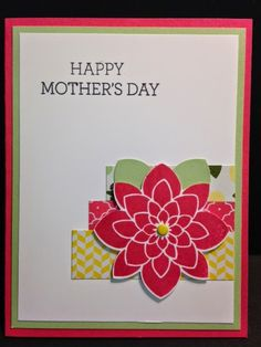 Crazy about You, Mother's Day Card, Stampin' Up!, Rubber Stamping, Handmade Cards