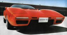The Ford Mach 2 was design by Larry Shinoda in 1970 as a challenger to the Chevrolet Corvette. It did not however meet production. The car was based on a De Tomaso Pantera chassis and engine. The rear design was influneced by the 1962 Corvair Monza GT. The Mach II project was abandonned when Ford teamed up with De Tomaso to sell the Pantera in the USA through there Lincoln-Mercury dealer network, which was cheaper than developing this car.