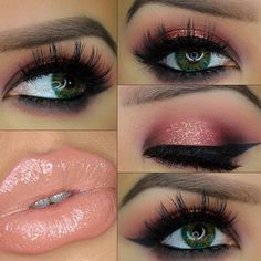 The lips look gross to me but I LOVE the eyes