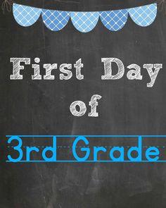3rd grade free printable @goldenstatemom