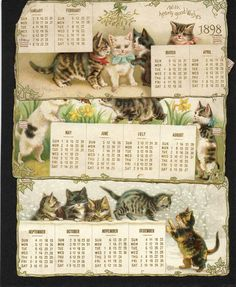 1898 calendar. Helena Maguire. 1 of 3.