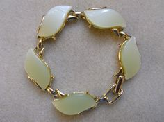 Vintage Lucite Beads of Pale Yellow Set in by AprilSnowJewelry, $14.00
