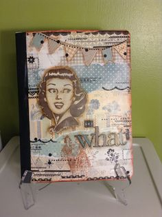 Mixed media on notebook - say what?